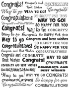 Karen Foster Design, Final Touch Clearly Sticker Sheet, Congratulations