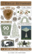 The Great Outdoors Epoxy Scrapbook Stickers