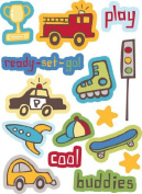 Little Guy Icons Dimensional Scrapbook Stickers