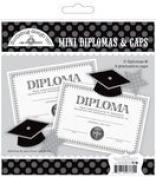Doodlebug Cap & Gown Mini Diplomas & Cap Die Cuts