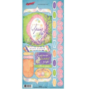 Easter Look What the Bunny Brought Cardstock Scrapbook Stickers
