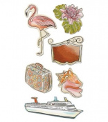 Paradise Chipboard Scrapbook Stickers