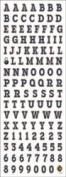 High School Alphabet Scrapbook Stickers