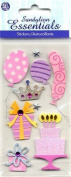 Birthday Girl Dimensional Scrapbook Stickers