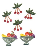 Provo Craft Stand Outs Quilled Stickers-Fruit Bowls