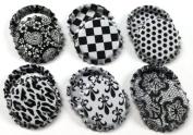 50 White w/Black Pattern ON BOTH SIDES Caps New Unused Bottlecaps 2 Sided