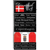 Denmark Scratchy Scrapbook Stickers