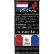 Holland the Netherlands Scratchy Scrapbook Stickers