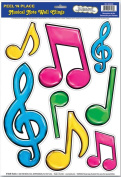 Music Treasures Co. Neon Musical Notes Peel N Place Stickers