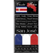 Costa Rica Scratchy Scrapbook Stickers