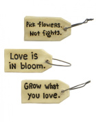Set of 3 'Love' Embellishment Tags