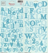 Heidi Grace Designs Alphabet Cardstock Stickers - Wildflowers