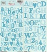 Heidi Grace Designs Alphabet Cardstock Stickers - Wildflowers