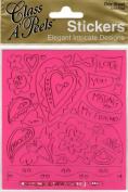 Passion Pink with Pink Class A'Peels Scrapbook Stickers