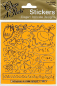 Sunshine Yellow with Gold Class A'Peels Scrapbook Stickers