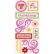 Tumbling Cardstock Scrapbook Stickers