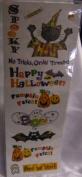 Halloween Pumpkin Patch Glitter Accent Scrapbook Stickers