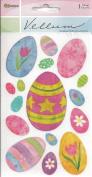 Decorated Eggs Vellum Scrapbook Stickers