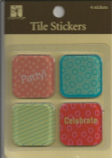 Party Acrylic Tile Scrapbook Stickers