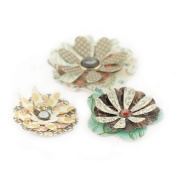BasicGrey Serenade Die-cut Paper and Canvas Flowers for Scrapbooking