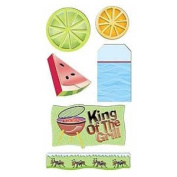 Summer Sizzle Chipboard Scrapbook Stickers