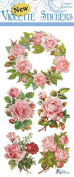 Violette Stickers Pink Rose Wreaths