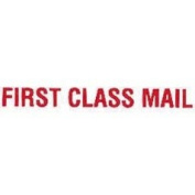 "Universal Office Products Pre-Inked ""First Class Mail"" Rubber Stamp -Red Ink-"