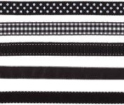 Lil Davis Licorice Black Ribbon 10 Yards 5 Designs