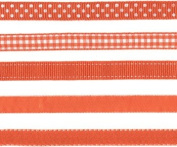 Lil Davis Orange Creamsicle Ribbon 10 Yards 5 Designs
