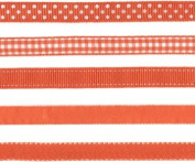 Lil Davis Orange Creamsicle Ribbon 10 Yards 5 Designs