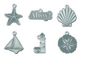 Beach Silver Metal Charms for Scrapbooking