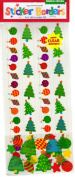 Whimsical Christmas Borders Scrapbook Stickers