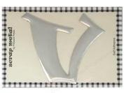 Pressed Petals Scrap Metal Alphabet V - 10cm