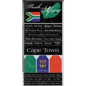 South Africa Scratchy Scrapbook Stickers