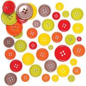 Autumn Coloured Buttons