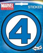 Fantastic Four Logo Marvel Comics Die Cut Vinyl Sticker Decal