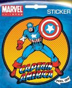 Captain America on Orange Marvel Comics Die Cut Vinyl Sticker Decal
