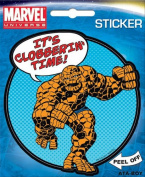The Thing It's Clobberin Time Fantastic Four Marvel Comics Die Cut Vinyl Sticker Decal