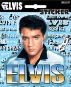 Elvis Presley - Blue with Name Die Cut Vinyl Sticker Decal