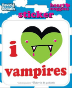 David and Goliath - I Heart Vampires Die Cut Vinyl Sticker Decal