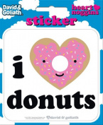 David and Goliath - I Heart Donuts Die Cut Vinyl Sticker Decal