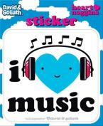 David and Goliath - I Heart Music Die Cut Vinyl Sticker Decal
