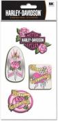 Jolee's Harley Davidson Pink Metal Stickers - Dagger