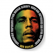 Bob Marley Rasta Colour Face Sticker