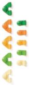 Karen Foster Design Boot Loopy Brads-Citrus