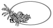 Clear stamp (6.4cm x 7.6cm ) FLONZ clingy acrylic stamp // Vintage Oval Frame with Basket of Flowers