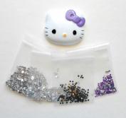 LOVEKITTY DIY 3D Bling Purple Bow Kitty Face Bling Deco Kit / Set
