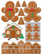 Gingerbread Lane 3D Stickers -Gingerbread