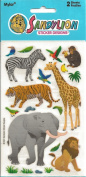Zoo Animals Mylar Scrapbook Stickers