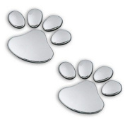 3d PVC Dog Footprint Car Sticker Auto Car Emblem Decal Decoration